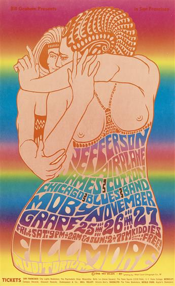WES WILSON (1937- ). [PSYCHEDELIC ROCK CONCERTS.] Group of 10 posters. 1966. Sizes vary.