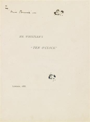 WHISTLER, JAMES McNEILL. Mr. Whistlers Ten OClock.