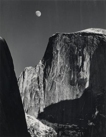 ANSEL ADAMS (1902-1984) Moon and Half Dome.
