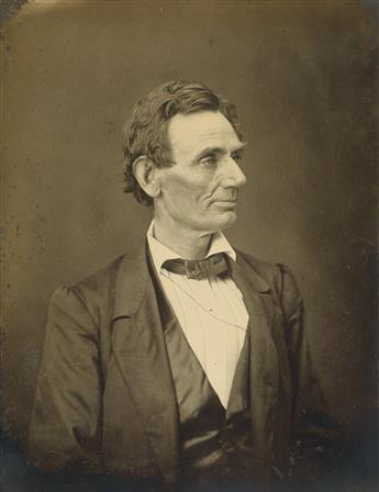 ALEXANDER HESLER (1823-1895)/GEORGE B. AYRES (1829-1905) Portrait of Abraham Lincoln.