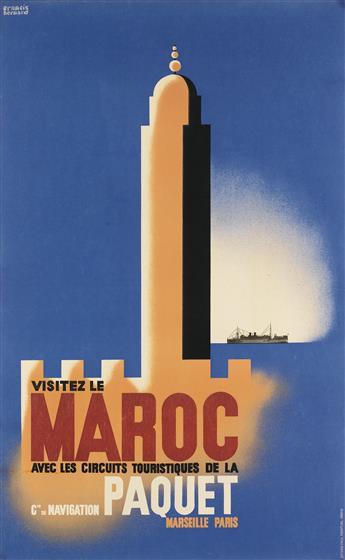 FRANCIS BERNARD (1900-1979). VISITEZ LE MAROC. Circa 1933. 39x24 inches, 99x61 cm. Paul Martial, Paris.