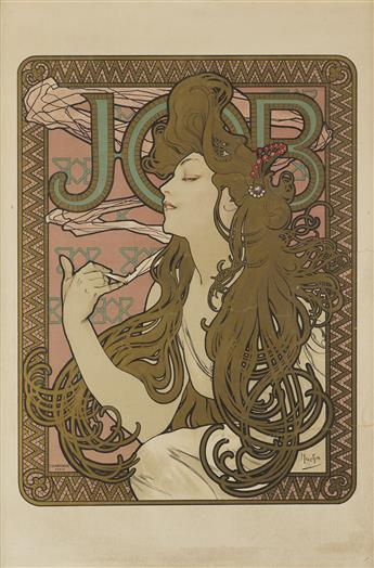 ALPHONSE MUCHA (1860-1939). JOB. 1896. 26x18 inches, 67x45 cm. F. Champenois, Paris.