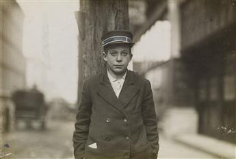 LEWIS W. HINE (1874-1940) A Western Union Messenger, Nashville, Tennessee.