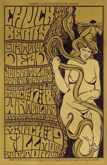 WES WILSON (1937- ). [PSYCHEDELIC ROCK CONCERTS.] Group of 5 posters. 1967. Sizes vary.