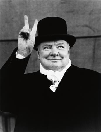EISENSTAEDT, ALFRED (1898-1995) Winston Churchill, Liverpool.