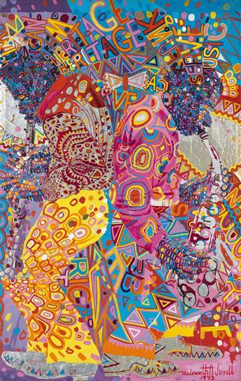 WADSWORTH JARRELL (1929 -   ) Untitled (African Rhythm, Our Heritage).