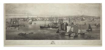 (NEW YORK CITY.) Hill, John William; and Himley, Sigismond (engraver). New York.