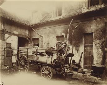 EUGÈNE ATGET (1857-1927) Gentilly, Vieille Ferme Voiture [Old Farm Cart].