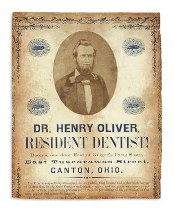 (OHIO.) Dr. Henry Oliver, Resident Dentist!