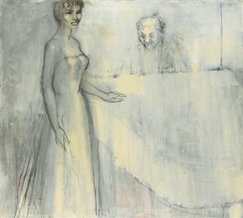 CHARLES ALSTON (1907 - 1977) Untitled (Study for Lena Horne).