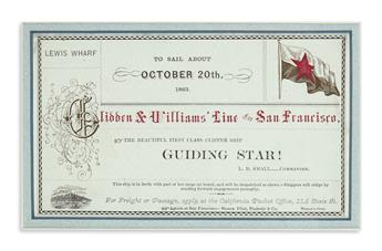 (CALIFORNIA.) Set of 12 clipper ship cards from the Glidden & Williams Line.