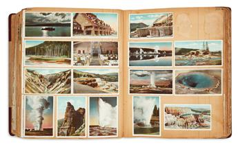 (POSTCARDS.) Enormous album of wide-ranging postcards.