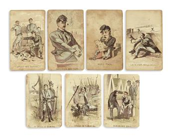 (CIVIL WAR.) [Homer, Winslow; artist.] Partial set of Life in Camp, Part One cards.