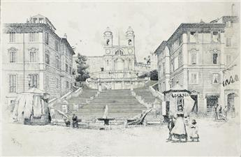 JOSEPH PENNELL The Spanish Steps, Rome.