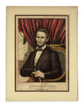 (PRINTS--MEMORIAL.) Group of 14 prints issued after Lincolns death.