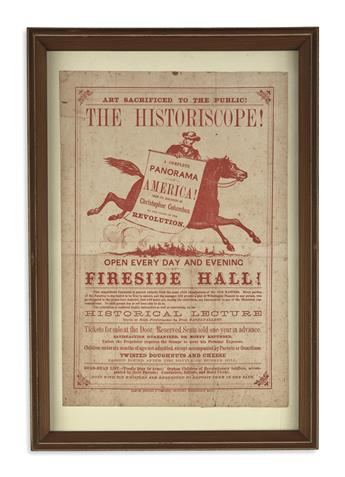 (HISTORY.) [Milton Bradley & Co.] Art Sacrificed to the Public! The Historiscope! A Complete Panorama of America!