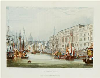 (ACKERMANN, RUDOLPH.) WESTALL, WILLIAM; and SAMUEL OWENS. Picturesque Tour of The River Thames.