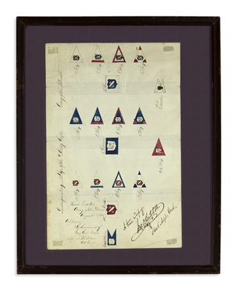 (CIVIL WAR.) Bertolette, John D. Designating Flags of the 9 Army Corps, Army of the Potomac.