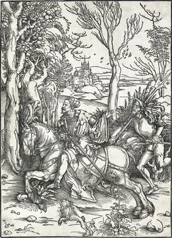 ALBRECHT DÜRER A Knight on Horseback and the Lansquenet.