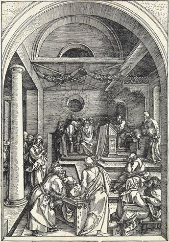 ALBRECHT DÜRER Christ Among the Doctors.