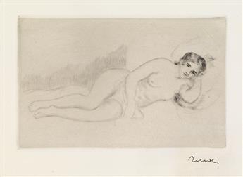 PIERRE-AUGUSTE RENOIR Femme nue couché (tournée à droite), 1re planche.