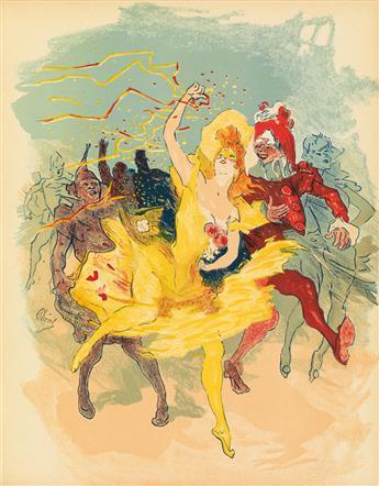 JULES CHÉRET (1836-1932). [AU QUARTIER LATIN.] Magazine cover proof. 1894. 12x19 inches, 30x49 cm. [Chaix, Paris.]