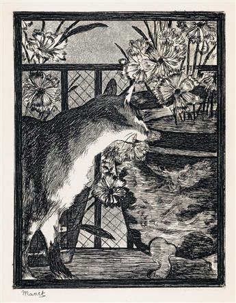 ÉDOUARD MANET Le Chat et les Fleurs.