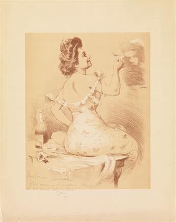 JULES-ALEXANDRE GRÜN (1868-1938). MUMMS REIMS ROUGE / [TOAST.] 1900. 13x12 inches, 35x31 cm.