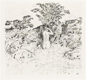 CHILDE HASSAM Wild Cherry Tree.