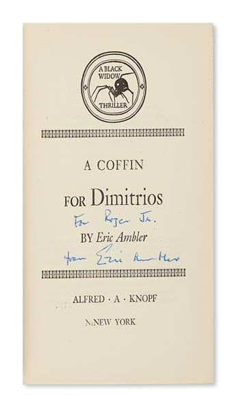 AMBLER, ERIC. A Coffin for Dimitrios.