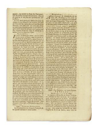 (WASHINGTON, GEORGE.) Issues of the Gazette dUtrecht on the conflict in America, including early mentions of George Washington.