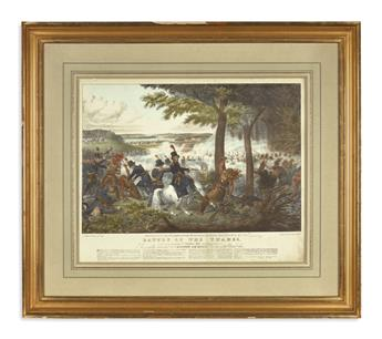 (WAR OF 1812.) Clay, [Edward Williams]; artist and lithographer. Battle of the Thames . . . Respectfully Dedicated to Andrew Jackson.