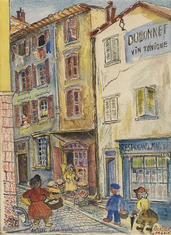 DAVID BURLIUK Antibes, Rue de Picasso.