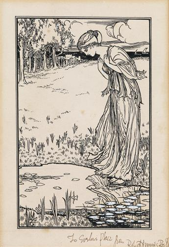 ROBERT ANNING BELL. While her robes flaunted with the daffodils.