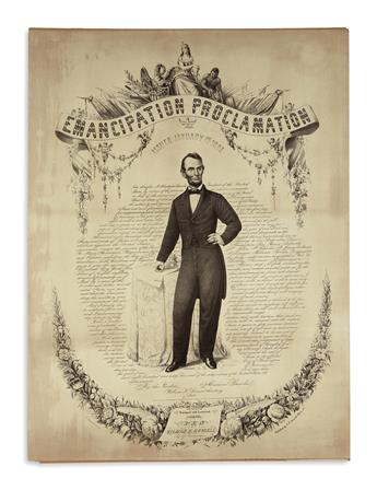 (PRINTS--EMANCIPATION.) Duval, P.S. & Son; engravers. Emancipation Proclamation Issued January 1st 1863.