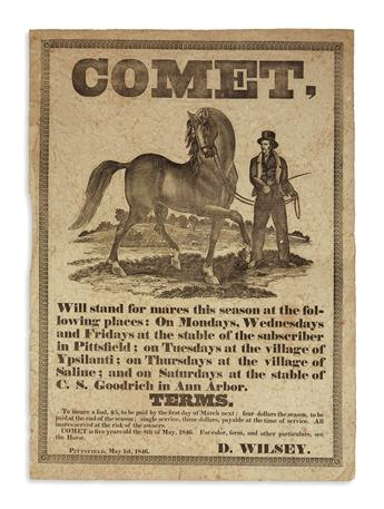 (MICHIGAN.) Wilsey, D. Comet, will Stand for Mares this Season.
