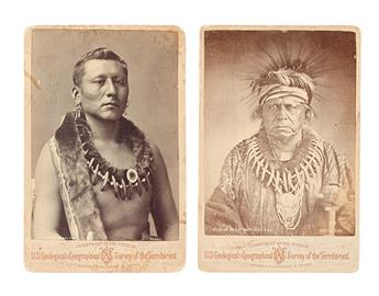 (AMERICAN INDIANS--PHOTOGRAPHS.) Keokuk, or the Watchful Fox, Sac & Fox * Young Black Dog, Osage.