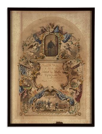 (CIVIL WAR--MASSACHUSETTS.) White, W.F.; artist. A Tribute to the Memory of the Fallen Brave.