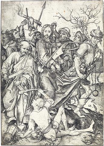 MARTIN SCHONGAUER Christ Taken Captive.