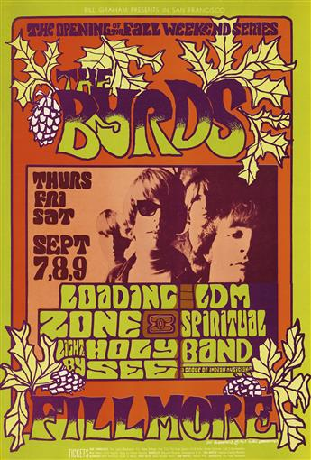 VARIOUS ARTISTS. [PSYCHEDELIC ROCK CONCERTS.] Group of 7 posters. 1967-1968. Sizes vary.