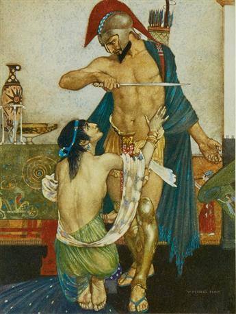 HOMER; WILLIAM RUSSELL FLINT. The Odyssey of Homer.