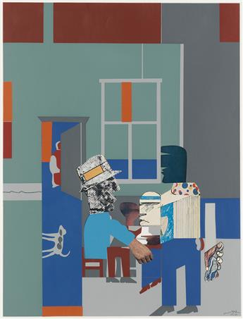 ROMARE BEARDEN (1911 - 1988) Carolina Blue (Interior).