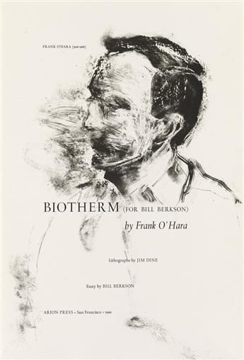 (ARION PRESS.) OHara, Frank; and Jim Dine. Biotherm (For Bill Berkson).