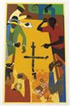 JOHN T. RIDDLE, JR. (1934 - 2002) Dominoes # 3, Deaf, Dumb, and Blind.