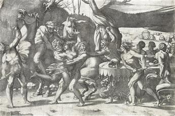 ENEA VICO (after Rosso Fiorentino) Battle of Lapiths and Centaurs (Abduction of Hippodaemia)