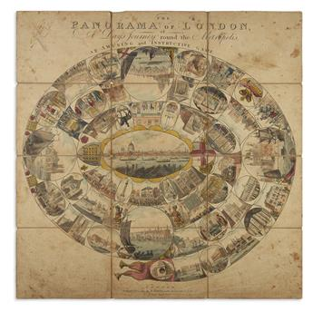 (GAMES.) Harris, John. The Panorama of London, or, A Days Journey Round the Metropolis.