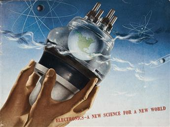 HERBERT BAYER (1900-1985). ELECTRONICS - A NEW SCIENCE FOR A NEW WORLD. Booklet. 1942. 8x10 inches, 21x27 cm. General Electric Company,