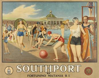 FORTUNINO MATANIA (1881-1963). SOUTHPORT. Circa 1935. 38x49 inches, 98x125 cm. S.C. Allen & Company, Ltd., London.