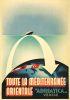 ADRIATICA / TOUTE LA MEDITERRAINEE ORIENTALE. Circa 1938. 39x27 inches.