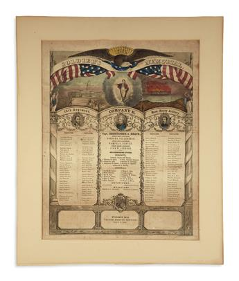 (PRINTS--PRESIDENTIAL.) Group of 4 large prints from Lincolns first term.